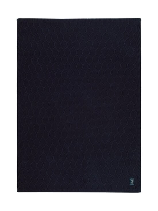 Tommy Hilfiger - Twist Plaid -huopa 130 x 170 cm - NAVY   Stockmann - photo 1
