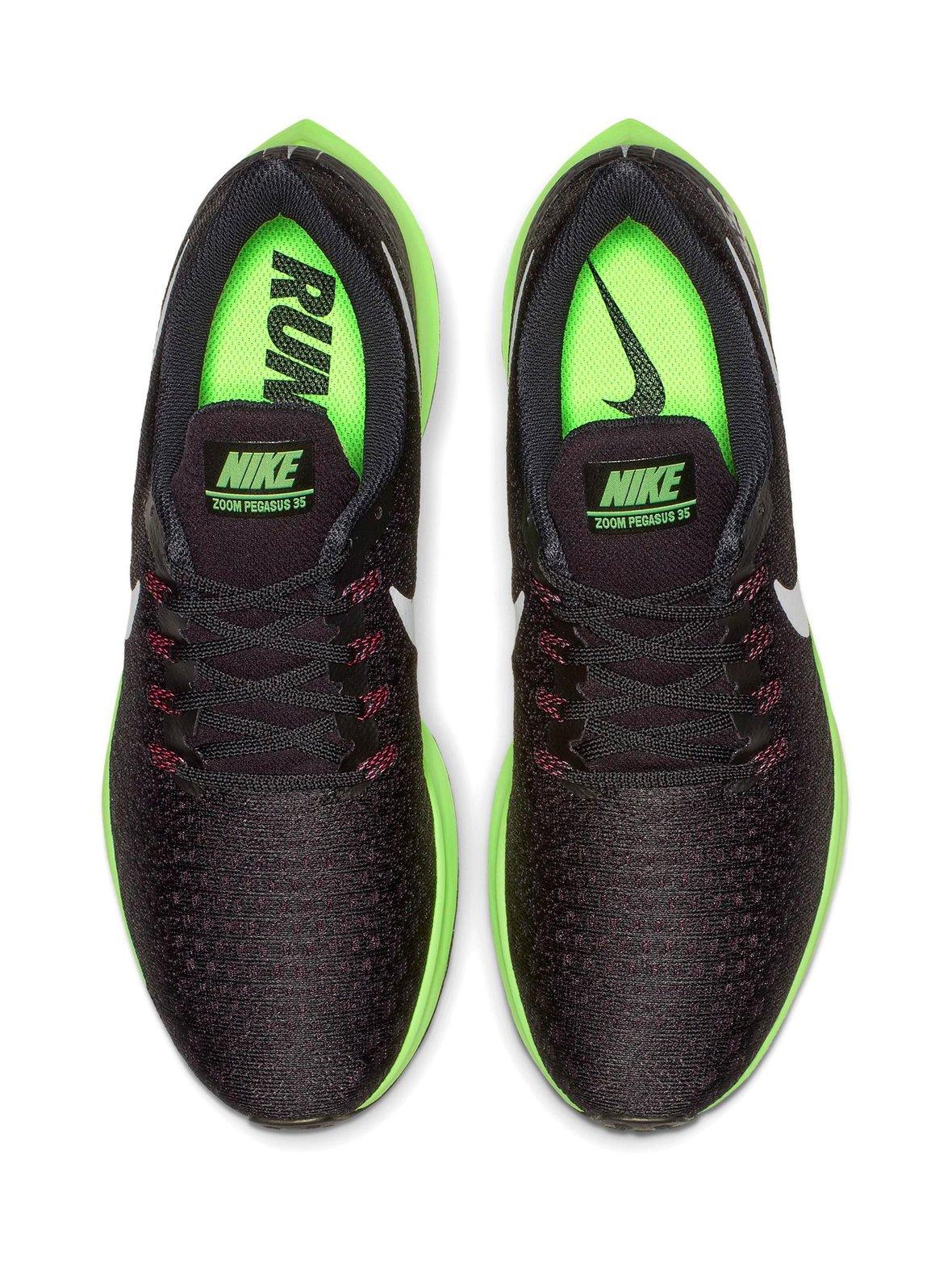 Black Lime Nike Air Zoom Pegasus 35 -juoksukengät  a100d43b84