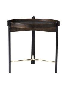 Warm Nordic - Compose Coffee Table -sohvapöytä ø 50 cm - SMOKED OAK / BRASS | Stockmann