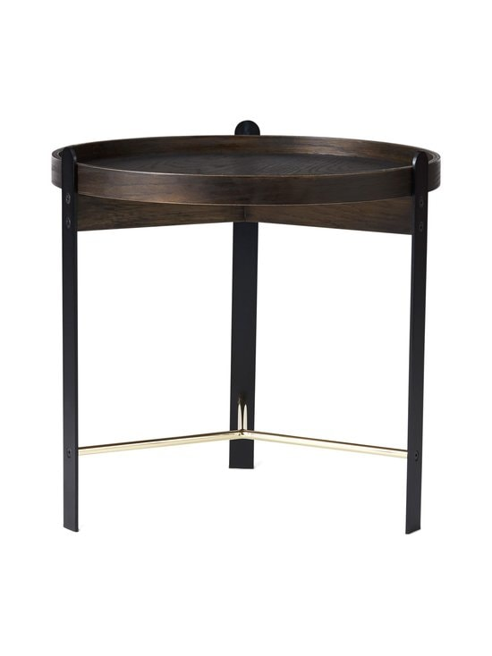Warm Nordic - Compose Coffee Table -sohvapöytä ø 50 cm - SMOKED OAK / BRASS | Stockmann - photo 1
