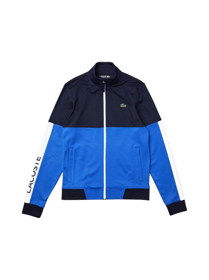 Colorblock Resistant Piqué Zip Sweatshirt -takki