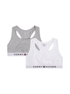 Tommy Hilfiger - Bralette-toppi 2-pack - 0UD MID GREY HEATHER/WHITE | Stockmann