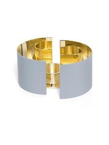 Skultuna - Infinity Candleholder, Small -kynttilälyhty 6 cm - GREY/BRASS   Stockmann
