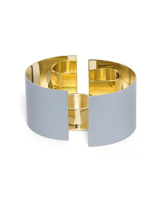 Skultuna - Infinity Candleholder, Small -kynttilälyhty 6 cm - GREY/BRASS   Stockmann - photo 1