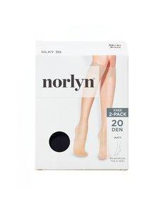 Norlyn - Silky 3D 20 den -polvisukat 2-pack - BLACK | Stockmann