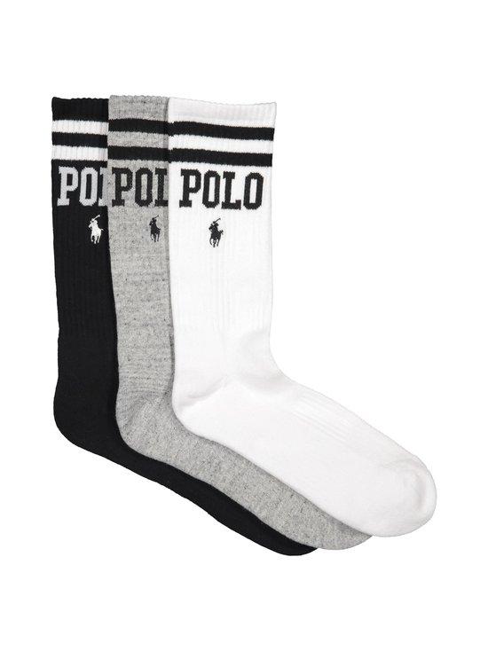 Polo Ralph Lauren - Crew Sock -sukat 3-pack - 3HD1 WH/GRY/BLK | Stockmann - photo 1