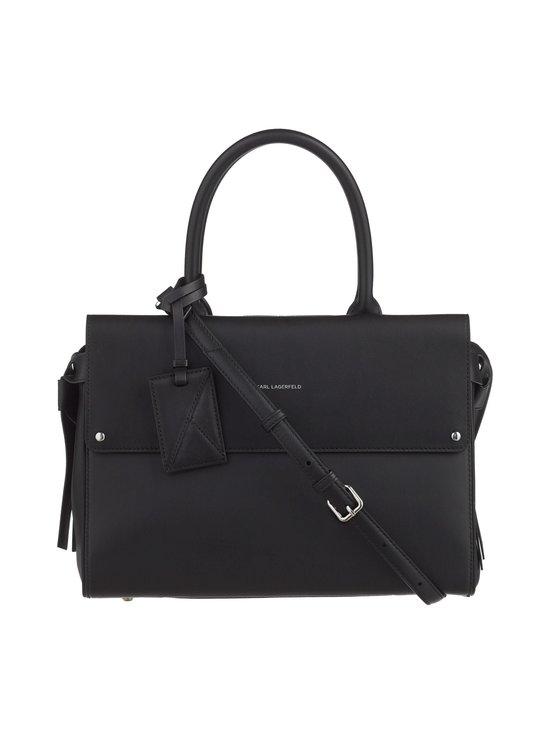 Karl Lagerfeld - K/Ikon Medium Top Handle -nahkalaukku - BLACK A999 | Stockmann - photo 1