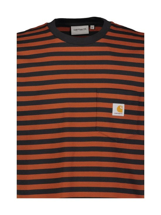Carhartt WIP - S/S Parker Pocket T-Shirt -paita - PARKER STRIPE, BLACK / BRANDY | Stockmann - photo 2