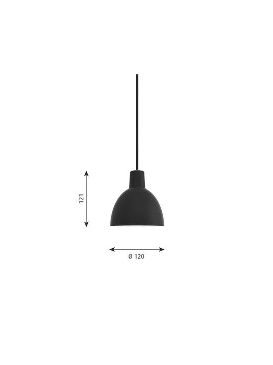 Louis Poulsen - Toldbod-riippuvalaisin Ø 12 cm - BLACK | Stockmann - photo 2