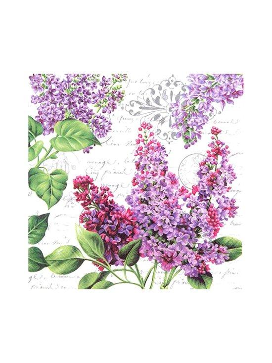 Ihr - Lilac Letter -servetti 33 x 33 cm - VALKOINEN/LIILA | Stockmann - photo 1