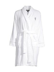 Lauren Ralph Lauren - Robe Short Shawl Collar -aamutakki - 100 WHITE | Stockmann