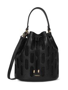 Furla - Block S Bucket Bag -nahkalaukku - NNR00 NERO+NERO | Stockmann