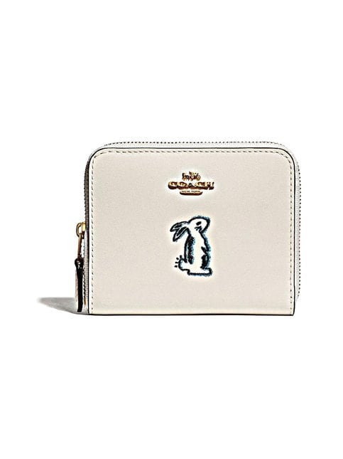 Coach – Selena Small Zip Around Wallet With Bunny -nahkalompakko
