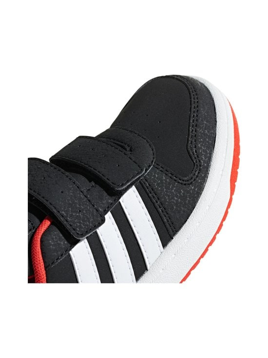 adidas Performance - Hoops 2.0 -kengät - CORE BLACK / CLOUD WHITE / HI-RES RED | Stockmann - photo 7