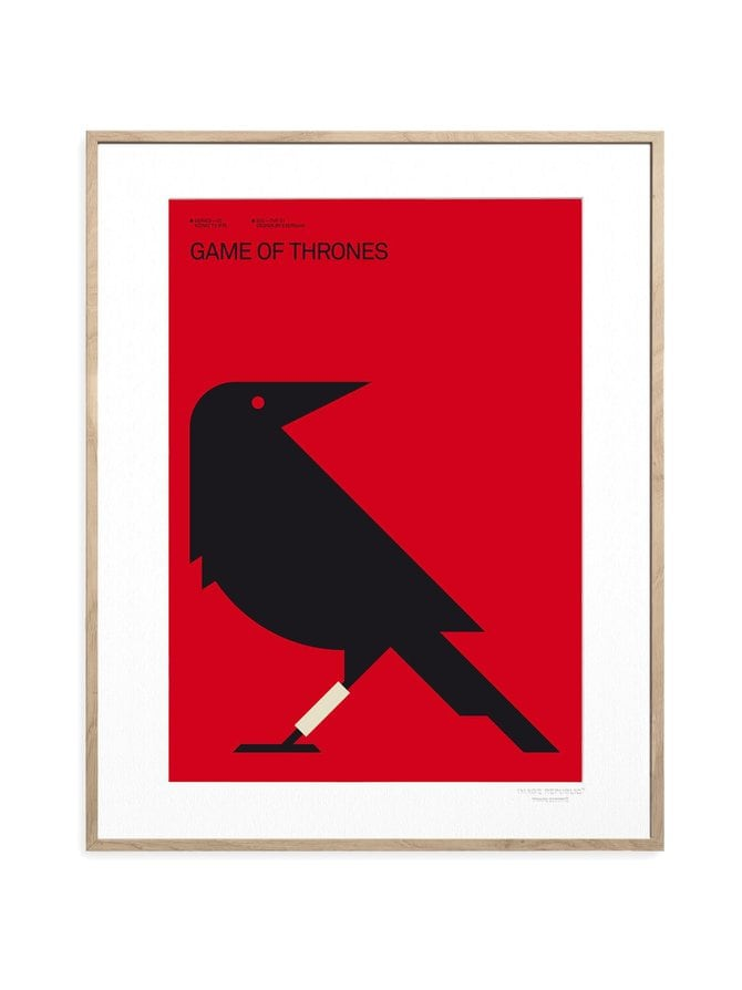 Iconic TV by Exergian Game of Thrones -juliste 30 x 40 cm