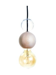 QUU Design - Medium NG -riippuvalaisin 9,5 x 15,5 cm - NATURAL/GLASS | Stockmann