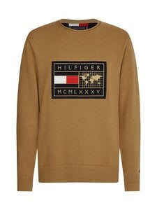 Tommy Hilfiger - ICON GRAPHIC SWEATER -neule - GW8 COUNTRYSIDE KHAKI | Stockmann
