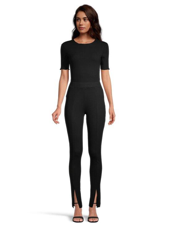 NA-KD - Front Slit Jersey Pants -housut - BLACK   Stockmann - photo 2