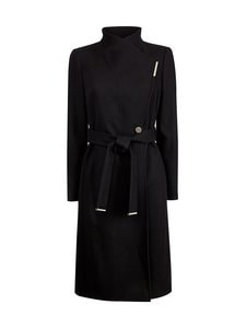 Ted Baker London - Rose Midi Wool Wrap Coat With Shoulder Panels -villakangastakki - BLACK | Stockmann