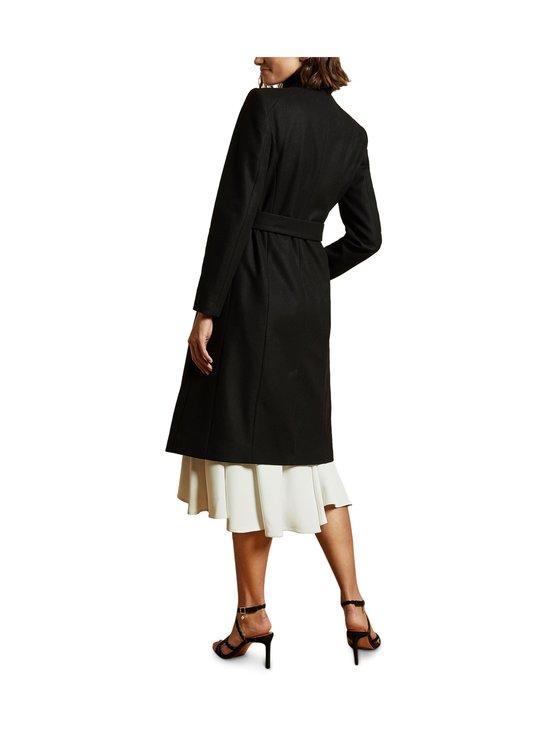 Ted Baker London - Rose Midi Wool Wrap Coat With Shoulder Panels -villakangastakki - BLACK | Stockmann - photo 4