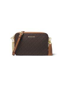 Michael Michael Kors - Ginny Medium Logo Crossbody Bag -laukku - BROWN | Stockmann
