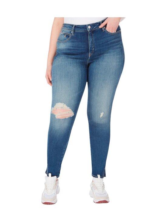 Calvin Klein Jeans Plus - High Rise Skinny Ankle -farkut - 1A4 BB233- MID BLUE DSTR TWIST HEM | Stockmann - photo 3