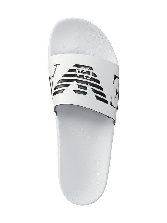 Emporio Armani - Monogram Sliders -sandaalit - L007 WHITE+BLACK+WHITE | Stockmann - photo 2
