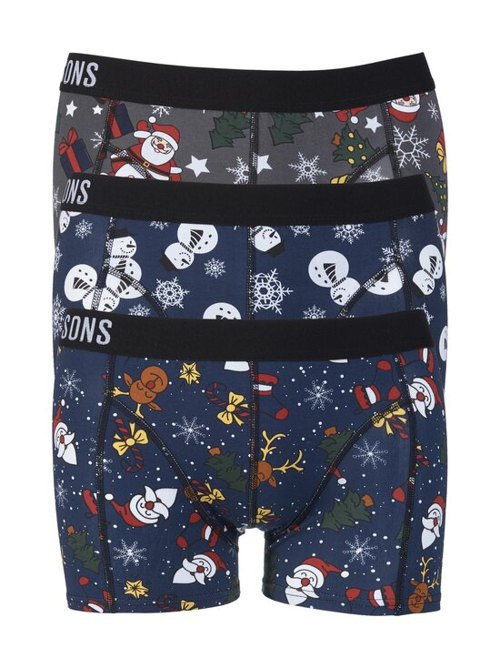 Only & Sons - OnsRudolph Print Trunk -bokserit 3-pack - CLOUD DANCER PACK:+ DRESS B+ GRAY P | Stockmann - photo 1