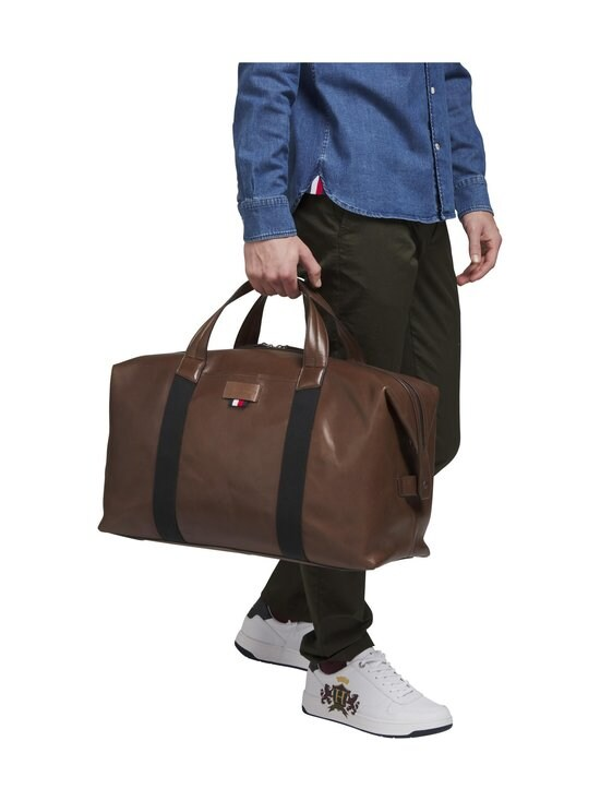 Tommy Hilfiger - Casual Leather Duffle -laukku - 0HD CIGAR | Stockmann - photo 3