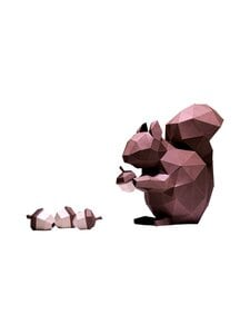 Papercraft World - Squirrel 3D -koriste - BROWN   Stockmann