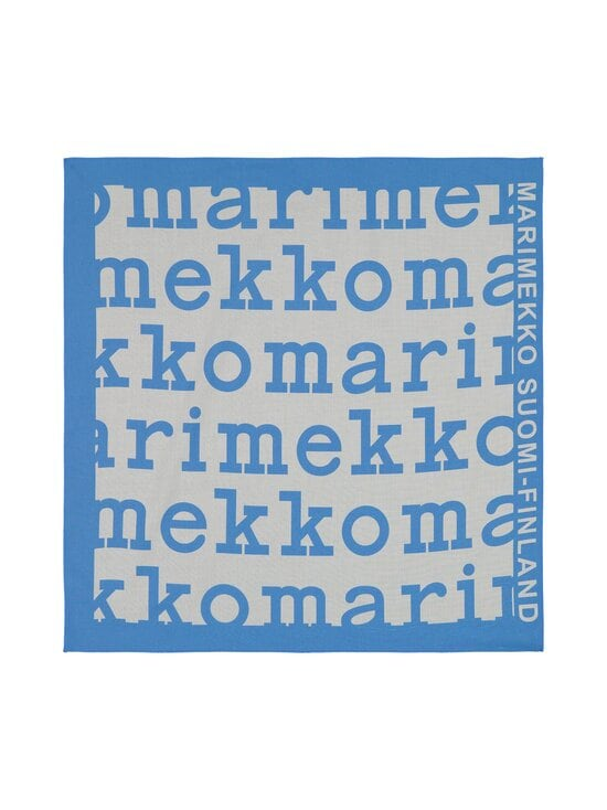Marimekko - Etevä Logo -huivi - 510 BLUE, WHITE | Stockmann - photo 2
