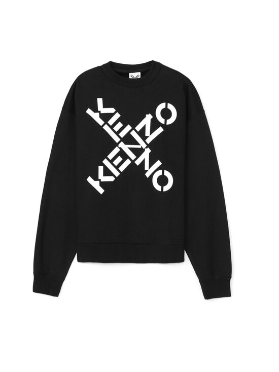 Kenzo - Sport 'Big X' Sweatshirt -collegepaita - 99 - POLY FLEECE KENZO SPORT - BLACK | Stockmann - photo 1
