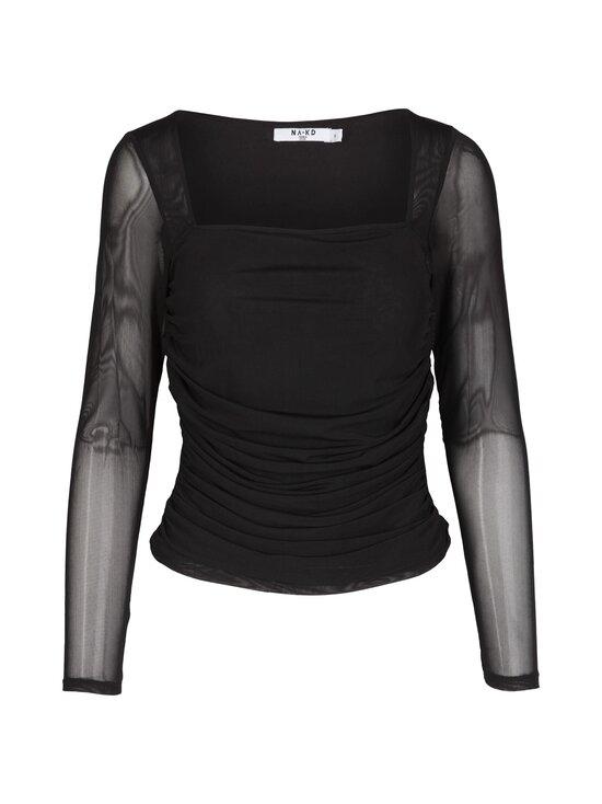 NA-KD - Ruched Long Sleeve -pusero - BLACK | Stockmann - photo 1