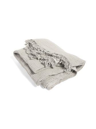 Crinkle cotton blanket 210 x 150 cm - HAY