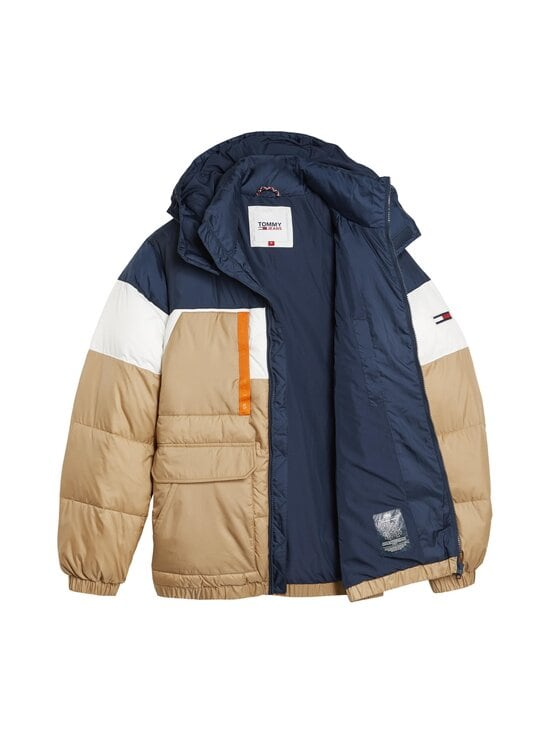 Tommy Jeans - Colour-Blocked Hooded Puffer -toppatakki - RBL CLASSIC KHAKI   Stockmann - photo 3