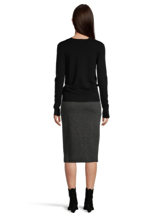 Vila - ViMany Pencil Skirt -hame - DARK GREY MELANGE | Stockmann - photo 5