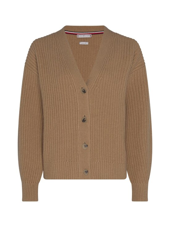Tommy Hilfiger - Rib V-Neck Cardi -neuletakki - GV7 TIMELESS CAMEL | Stockmann - photo 1