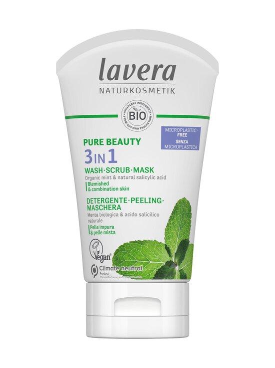Lavera - Pure Beauty 3IN1 Wash Scrub Mask -monitoimi puhdistusaine 125 ml - NOCOL   Stockmann - photo 1