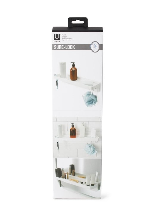 Umbra - Flex Surelock Bath Shelf -kylpyhuonehylly - WHITE   Stockmann - photo 3