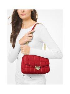 Michael Michael Kors - Soho Large Quilted Leather Shoulder Bag -nahkalaukku - 683 BRIGHT RED | Stockmann