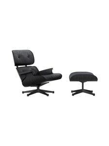Vitra - Eames Lounge Chair -nojatuoli ja rahi - BLACK ASH / PREMIUM LEATHER BLACK | Stockmann