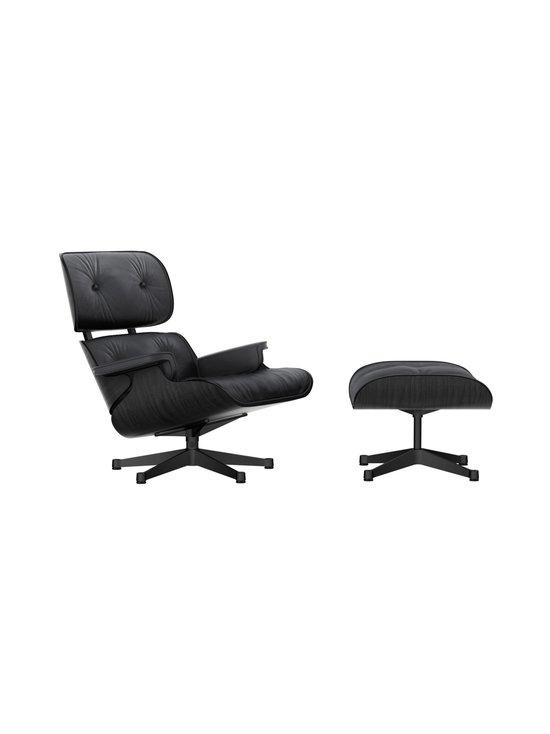 Vitra - Eames Lounge Chair -nojatuoli ja rahi - BLACK ASH / PREMIUM LEATHER BLACK   Stockmann - photo 1