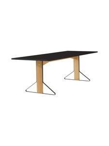 Artek - REB002 Kaari -pöytä, HPL - BLACK GLOSSY/NATURAL OAK (MUSTA/TAMMI) | Stockmann
