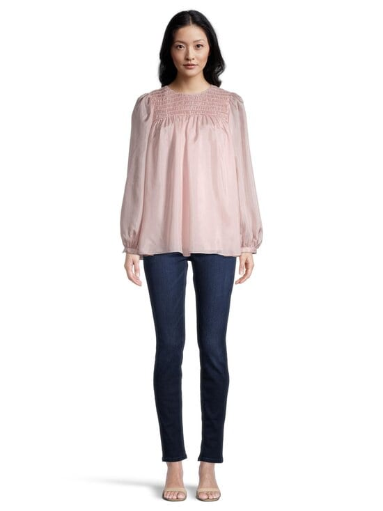 Tory Burch - Corded Top -silkkipusero - 654 ICED PINK | Stockmann - photo 2