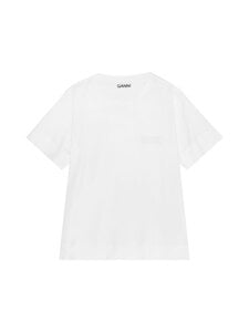 Ganni - Thin Software Jersey T-Shirt -paita - WHITE | Stockmann