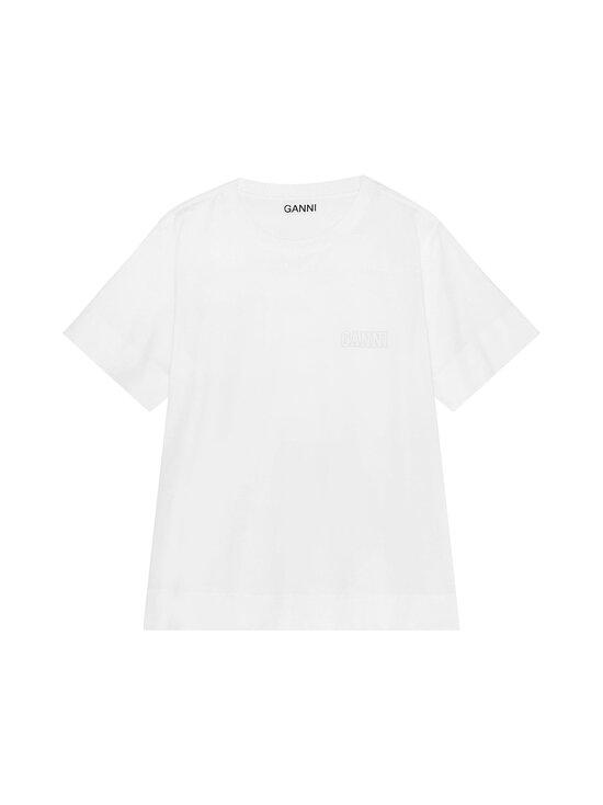 Ganni - Thin Software Jersey T-Shirt -paita - WHITE | Stockmann - photo 1