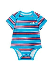 The North Face - Infant S/S Cotton One-Piece -body - 0501 MERIDIAN BLUE PAINTED STRIPE PRINT | Stockmann