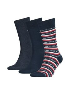 Tommy Hilfiger - Sukat 3-pack - 002DARK NAVY | Stockmann