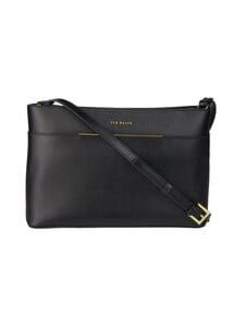 Ted Baker London - Golnaz Saffiano Bar Detail Xbody -nahkalaukku - 00 BLACK | Stockmann