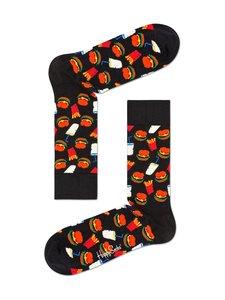 Happy Socks - Hamburger Junk -sukat - BLACK (MUSTA) | Stockmann